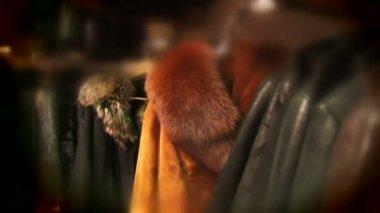 Fur clothes — Stock Video