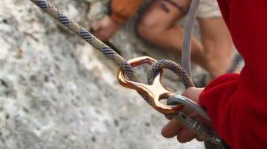Anello di corda di sicurezza — Video Stock