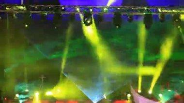 Raggi laser verde — Video Stock