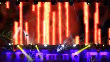 Laserprestanda — Stockvideo