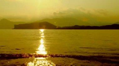 Sea at sunset — Stock Video