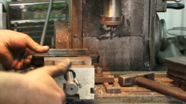 Industrial drill — Stock Video