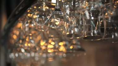 Wine glasses — Stock Video