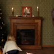New Years gift. Mom allows her daughter to choose a few for Christmas gifts. Two frames. — Stock Video #14272883