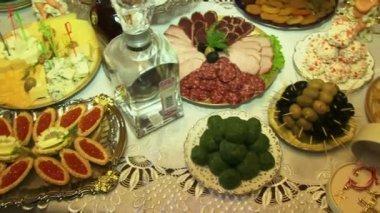 Tasty Food Religious — Stock Video