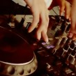Skills DJ. DJ shows his skills. — Stock Video