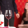Romantic dinner. Young couple celebrate valentines day for a romantic dinner. — Stock Video