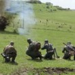 Stock Video: Reenactment Of World War II