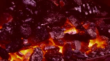 High Temperature Coal — Stock Video