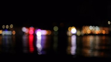 Lights in the background. Beautiful city lights blurred. — Stock Video