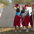 Stock Video: Preparing For Historical Reenactment