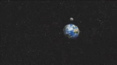 Asteroid Hurtling Towards Earth — Vídeo de Stock