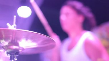 Group performing live at a party. Live music. — Stock Video