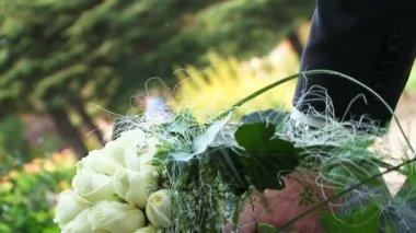 Wedding bouquet. — Stock Video