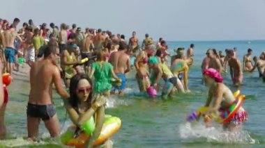 Kazantip festival. Summer fun at Kazantip. — Wideo stockowe