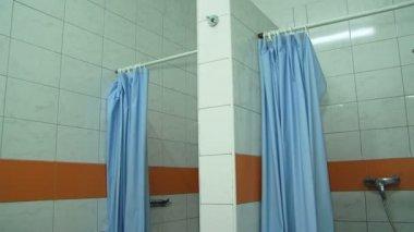 Interior of modern shower cabins. Shower cabins. — Stock Video