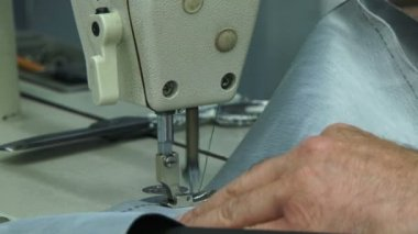 Machinist sewing. Close-up. Machinist sewing. — Stock Video
