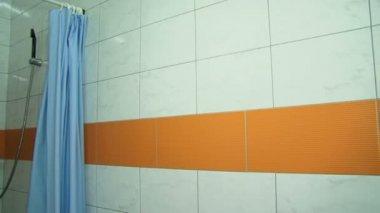 Interior of a modern shower cabin. Shower cabin. — Stock Video