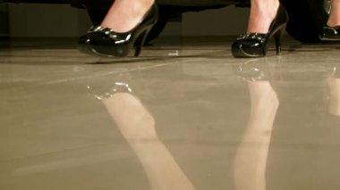 Women high heels — Stock Video