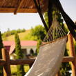 Hammock in the shade, on the front lawn — Stock Photo