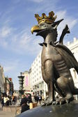 Gargoyle statue in Malmo on a pedestrian street — Stock Photo
