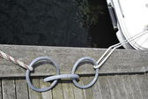 Rope on a dock — Stock Photo