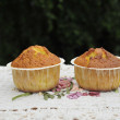 Stock Photo: Two Muffins on napkin
