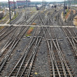 Stock Photo: Railway tracks with switches
