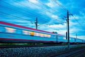 Train in the night. night train of öbb — Stock Photo