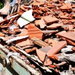 Construction debris at a construction site — Stock Photo