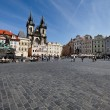 Prague, old town square, tyn church — Stock Photo #12573956