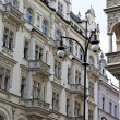 Prague, beautifully renovated houses n the old town — Stock Photo