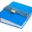 File folders locked with chain — Stock Photo #12574183