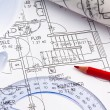 Blueprint of a house. construction — Stock Photo #12574208