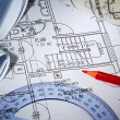 Blueprint of a house. construction — Stock Photo #12574384