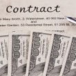 Dollar currency notes and english contract — Stock Photo #12574447