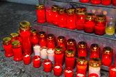 серьезные свечи на день всех святых — Стоковое фото