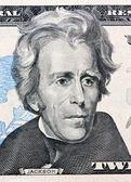 Fatture del dollaro us. dettaglio. jackson — Foto Stock