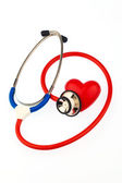 Stethoscope and heart — Stock Photo