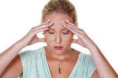 片頭痛を持つ女性 — ストック写真