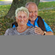 Mature senior couple is in love. — Stock Photo