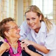 Home care of the old lady — Stock Photo #13142590