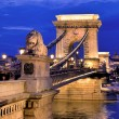 Hungary, budapest, chain bridge. — Stock Photo #13550907