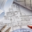 Blueprint of a house. construction — Stock Photo #13551019