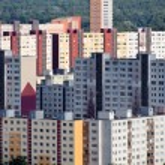 Slovakia, bratislava, apartment buildings — Stock Photo