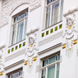 Beautifully renovated art nouveau building — Stock Photo #13554820