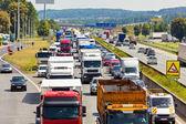Traffic jam on highway — Stock Photo