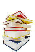Book stack on white background — Zdjęcie stockowe