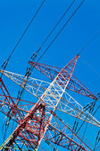 Pylons of a power line — Stock Photo