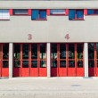 Stock Photo: Fire department garage